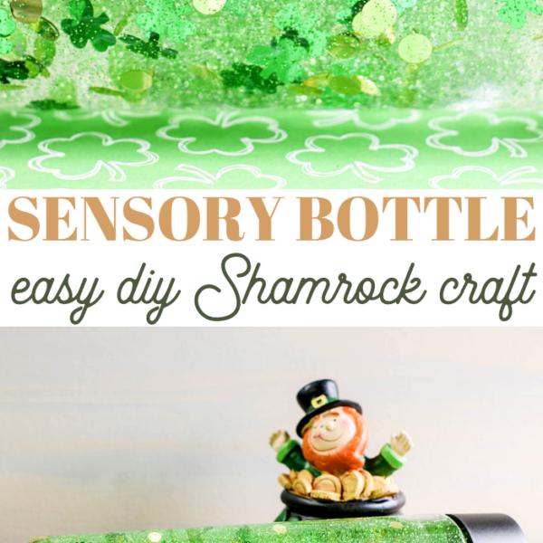 diy shamrock sensory bottle