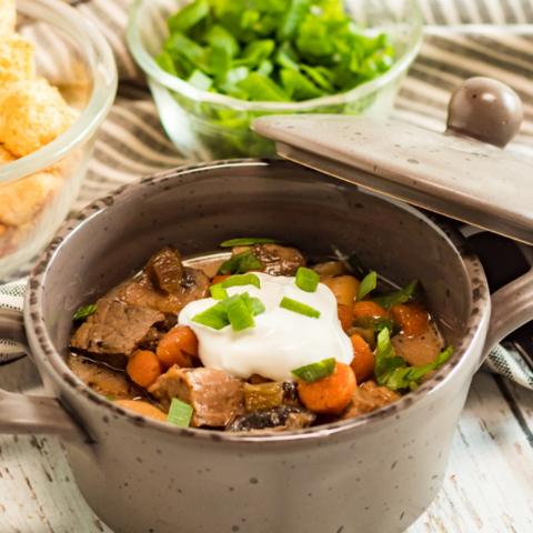 comforting steak and potatoes