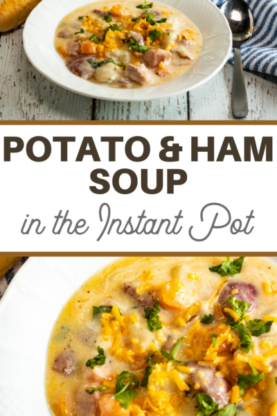 ham and potatoes in a hearty soup