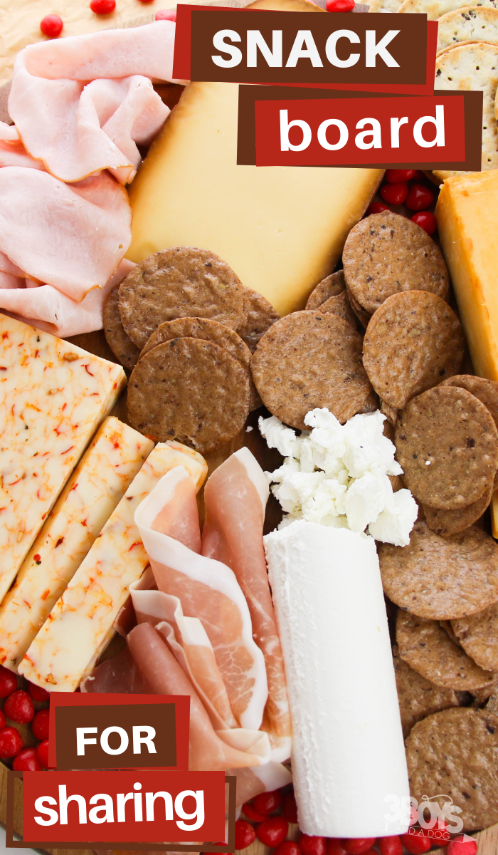 meat and cheese tray for valentines