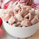 pink and red puppy chow for valentines day