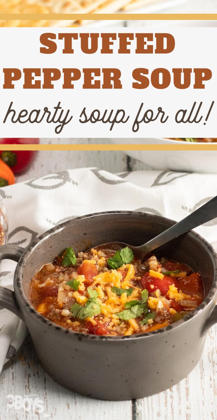 stuffed green pepper soup instant pot