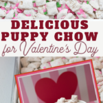 valentine puppy chow sweet snack mix recipe