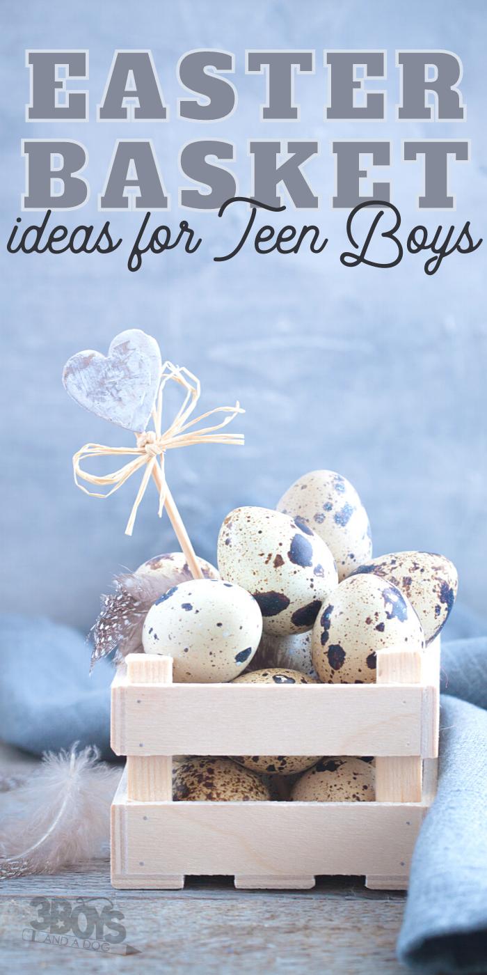 Teenage Guy Basket and Filler Ideas for Easter