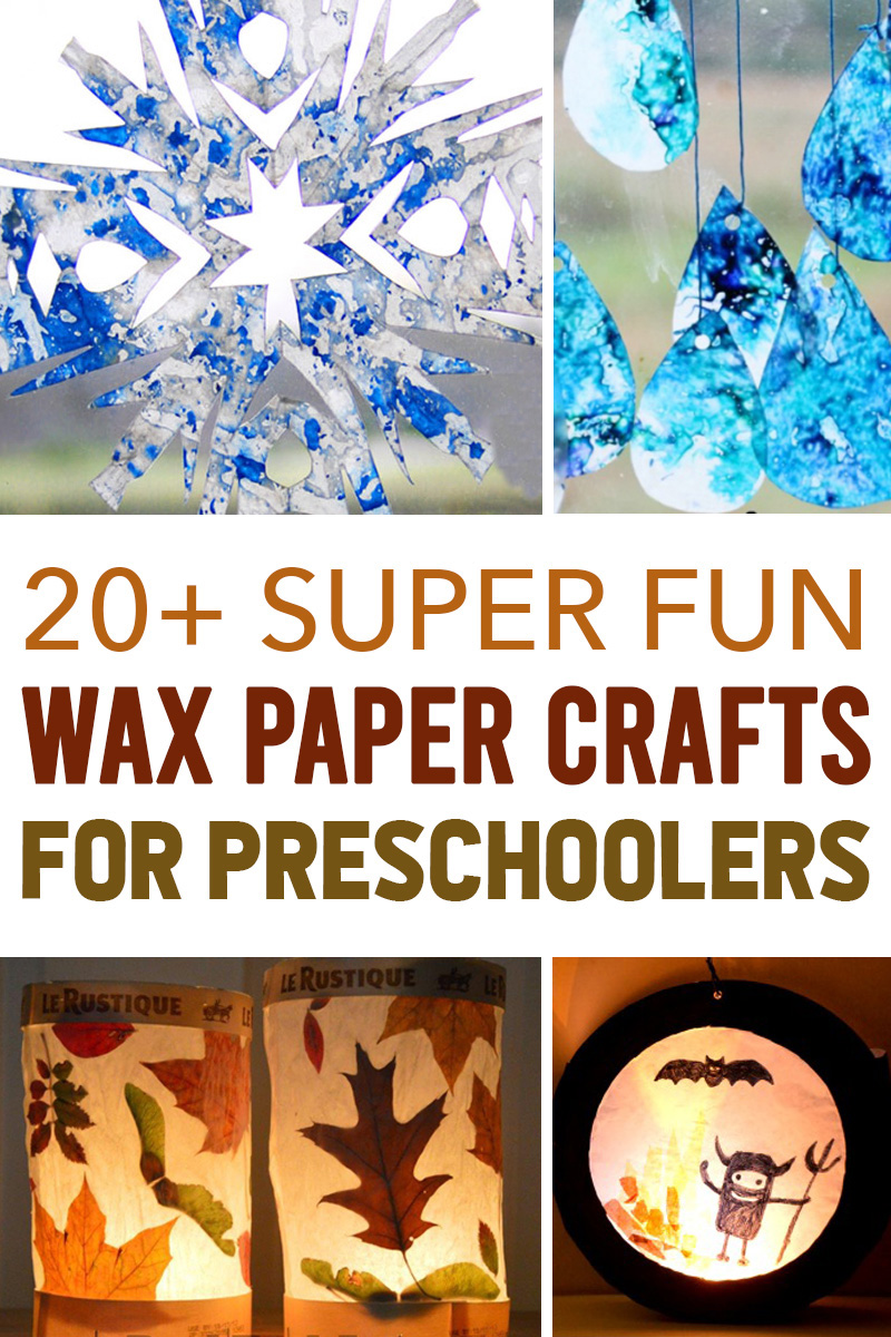 wax paper crafts for kid