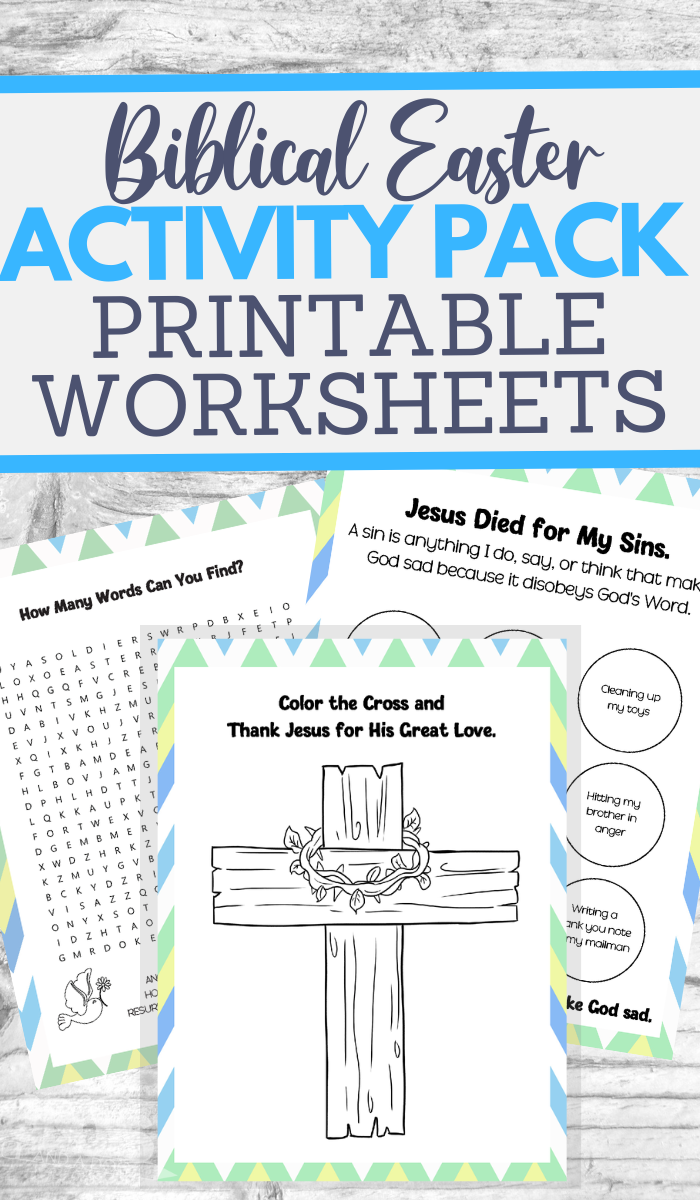 printable worksheet for Easter learning fun