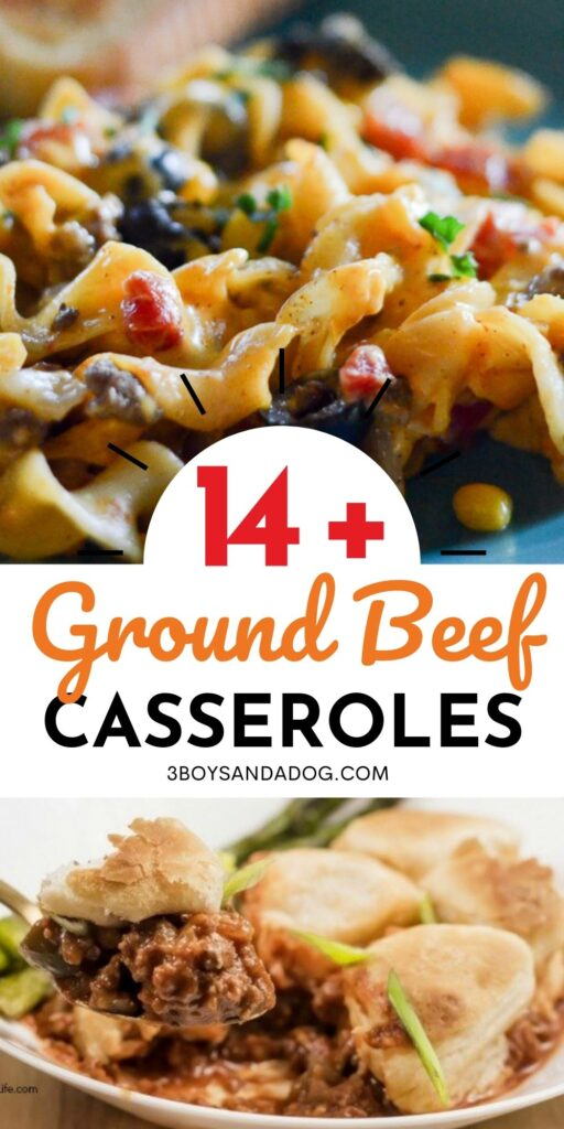 filling casseroles that use ground hamburger meat