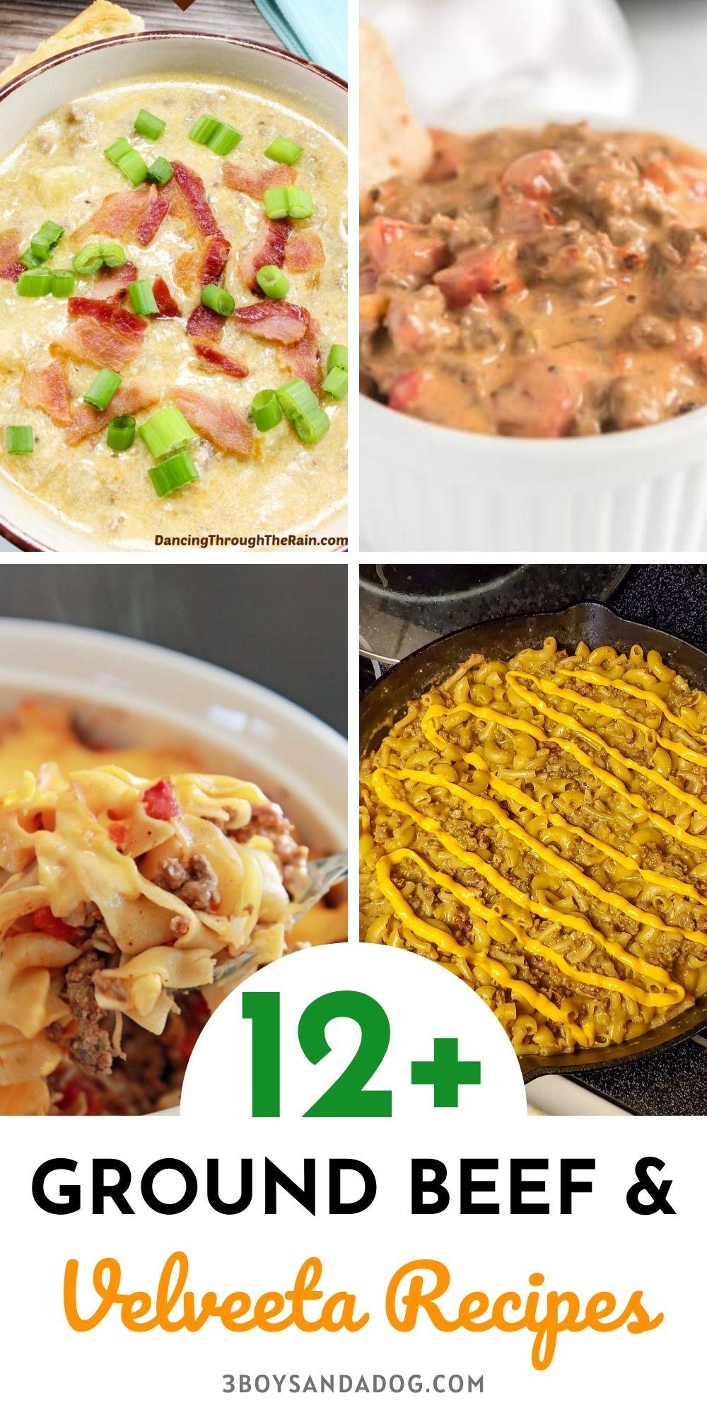 ground beef and velveeta recipes