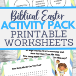 printable activity pack for Easter