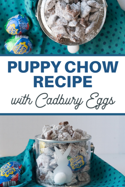 Easter Muddy Buddies that taste like Cadbury Creme Eggs