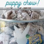puppy chow with cadbury cream eggs
