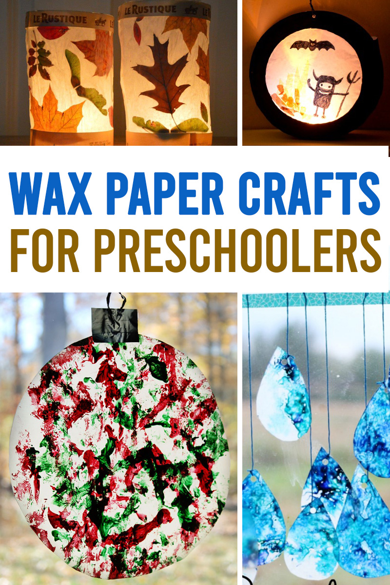 stained glass crafts for kids using wax paper