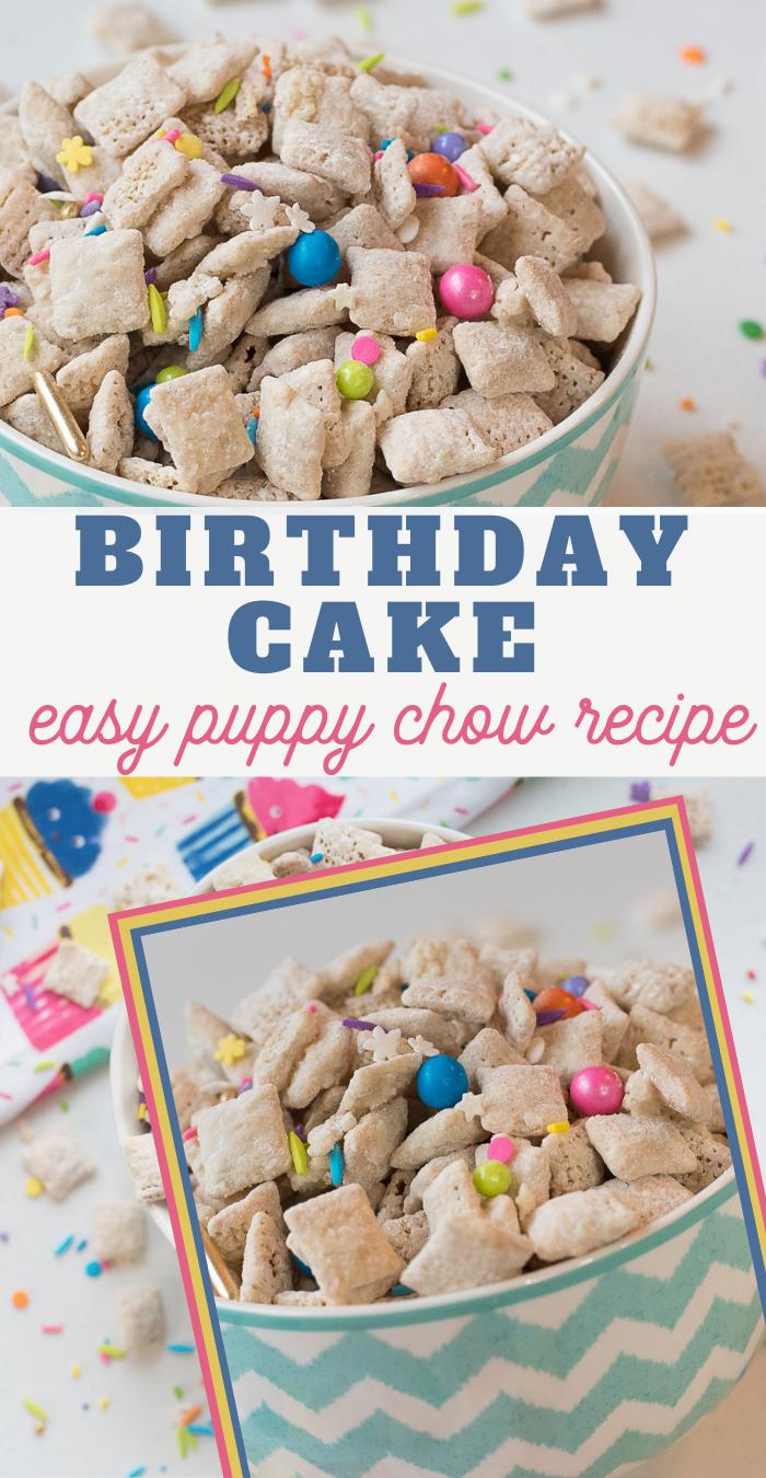 birthday cake puppy chow recipe