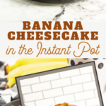 bananas foster dessert in cheesecake form