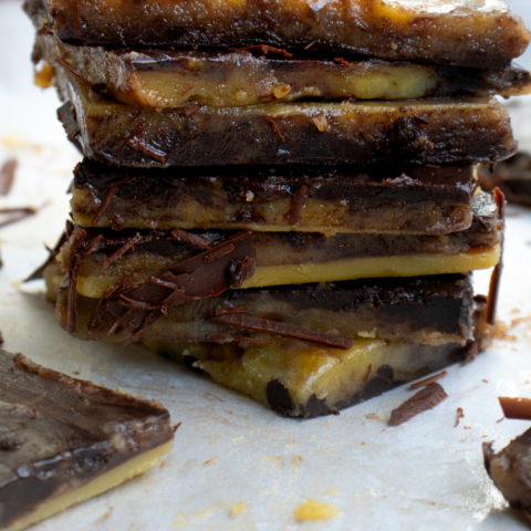 chocolate coated toffee
