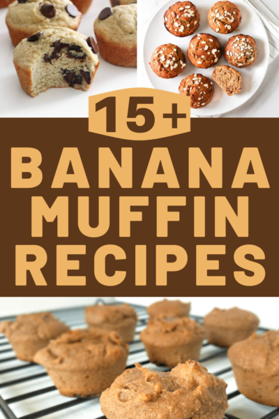 over 15 banana muffin recipes for breakfast or brunch