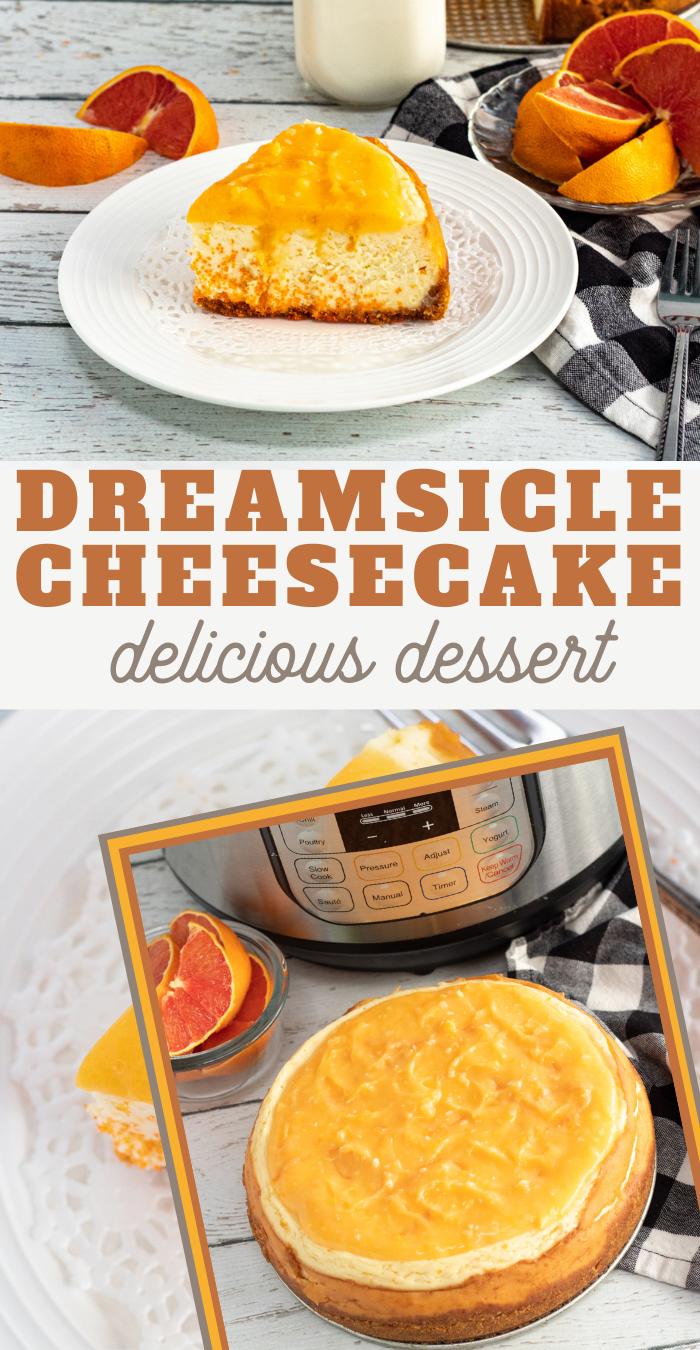 creamy orange cheesecake