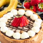 chocolate covered banana cheesecake recipe
