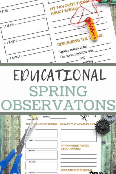 spring observations printable sheets