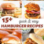 fast and simple hamburger recipes