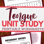 parts of the tongue and more worksheets