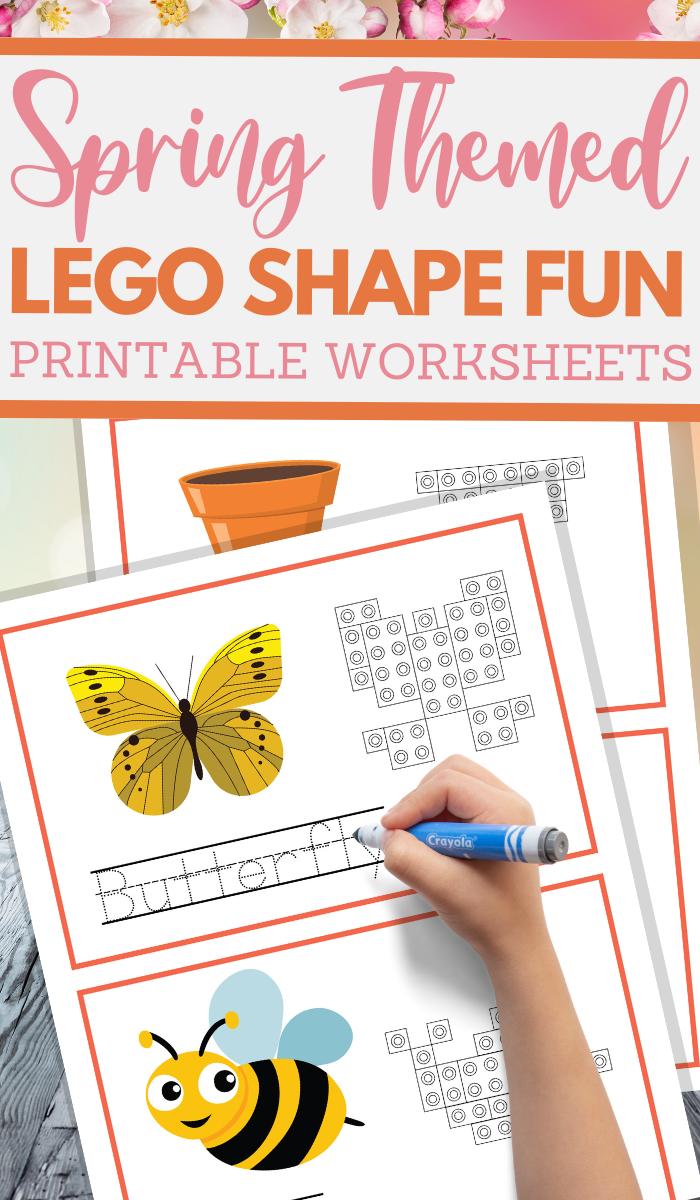spring themed pattern build skills sheets