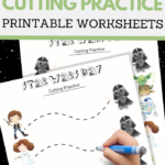 simple cutting worksheets for May the Fourth Be With You Day
