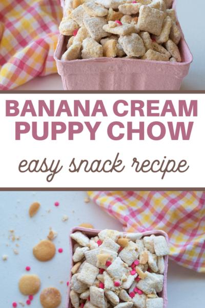 banana cream pie flavored puppy chow recipe