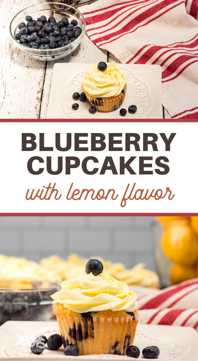lemon and blueberry cupcake recipe
