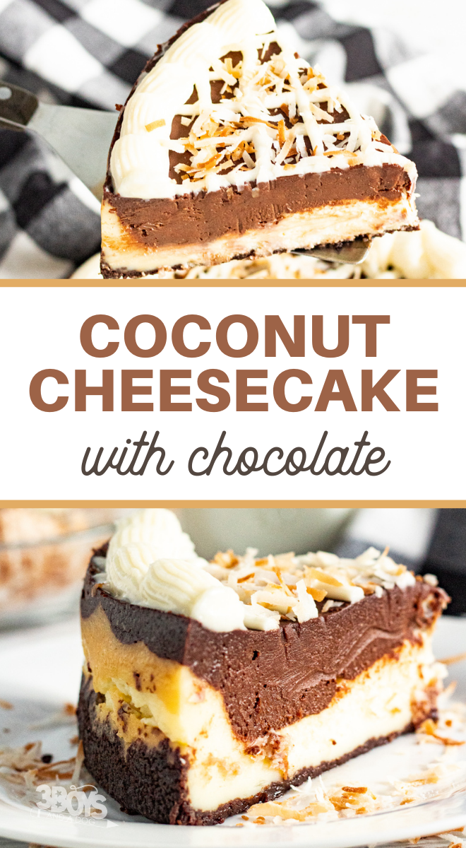 cheesecake with coconut and chocolate