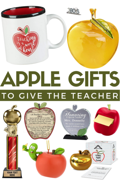fun apple themed gifts for teacher appreciation