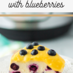 cheesecake recipe with lemon and blueberries
