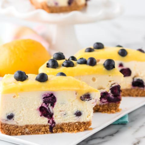 instant pot lemon blueberry cheesecake recipe