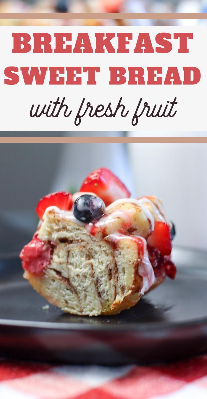 mixed berries monkey bread