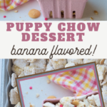 easy creamy bananas flavored chex mix snack recipe
