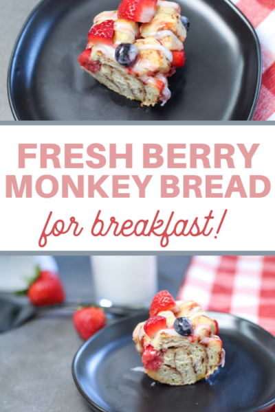 pull apart bread with fresh berries