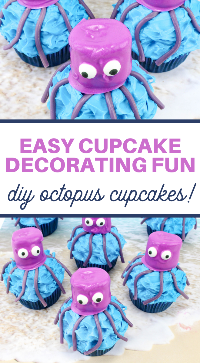 octopus cupcakes for an ocean animals unit study