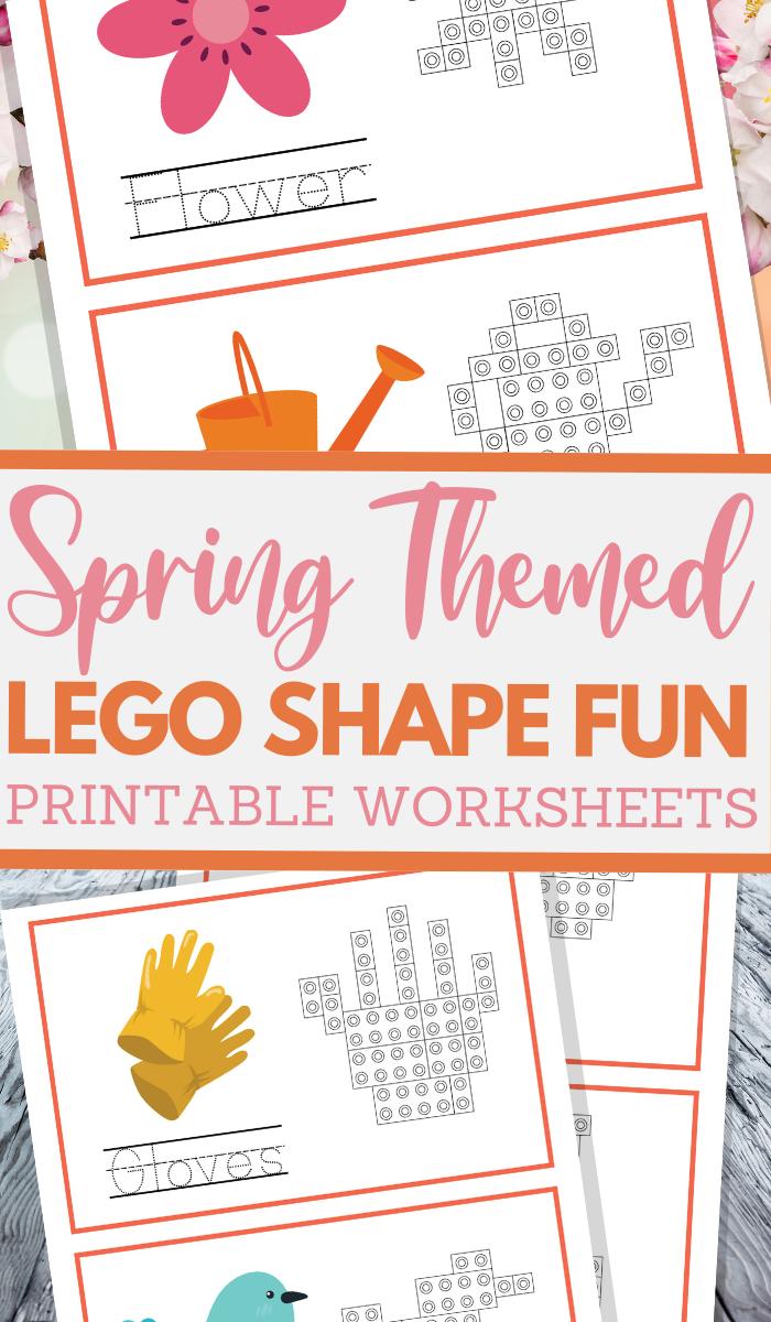 simple lego shape worksheets for spring