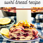 make this beautiful and delicious bread recipe of lemons and blueberries