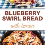 sweet bread recipe of lemon and blueberries