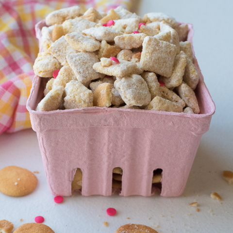 puppy chow with banana cream pudding mix