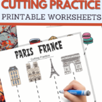 simple cutting worksheets for your Paris France Unit Study
