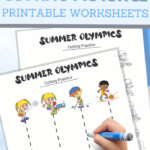 simple cutting worksheets for your Summer Olympics Unit Study