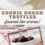 smores cookie dough truffles