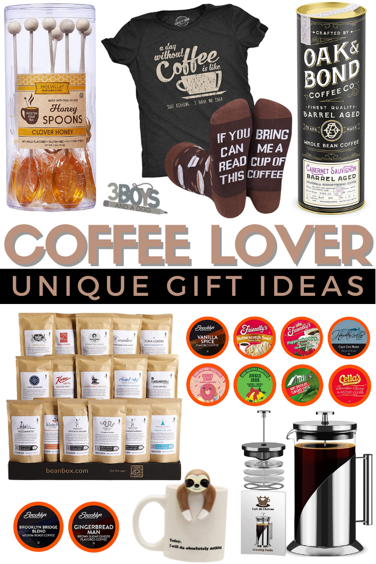 unique coffee themed gift ideas