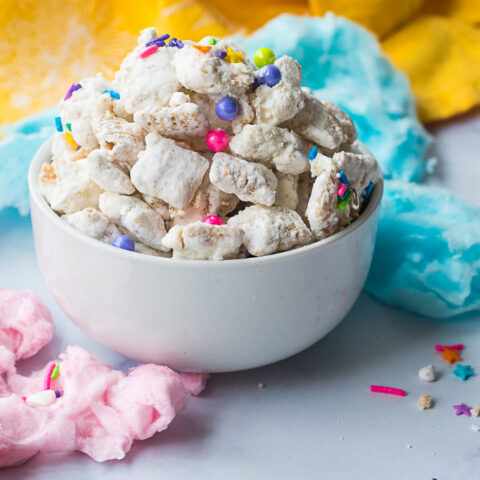 Cotton Candy Puppy Chow Recipe