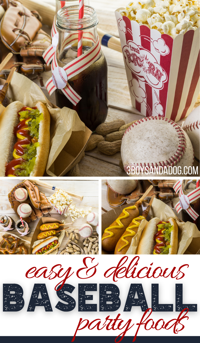 baseball themed party foods for a birthday or shower