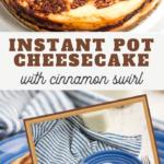 instant pot cinnamon swirl cheesecake