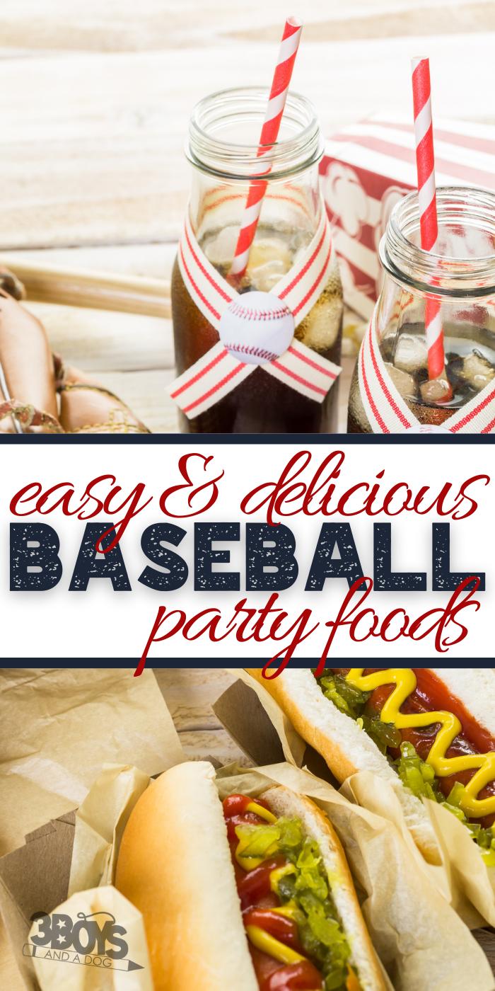 baseball baby shower food ideas