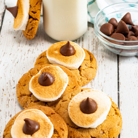 smores cookies with peanut butter
